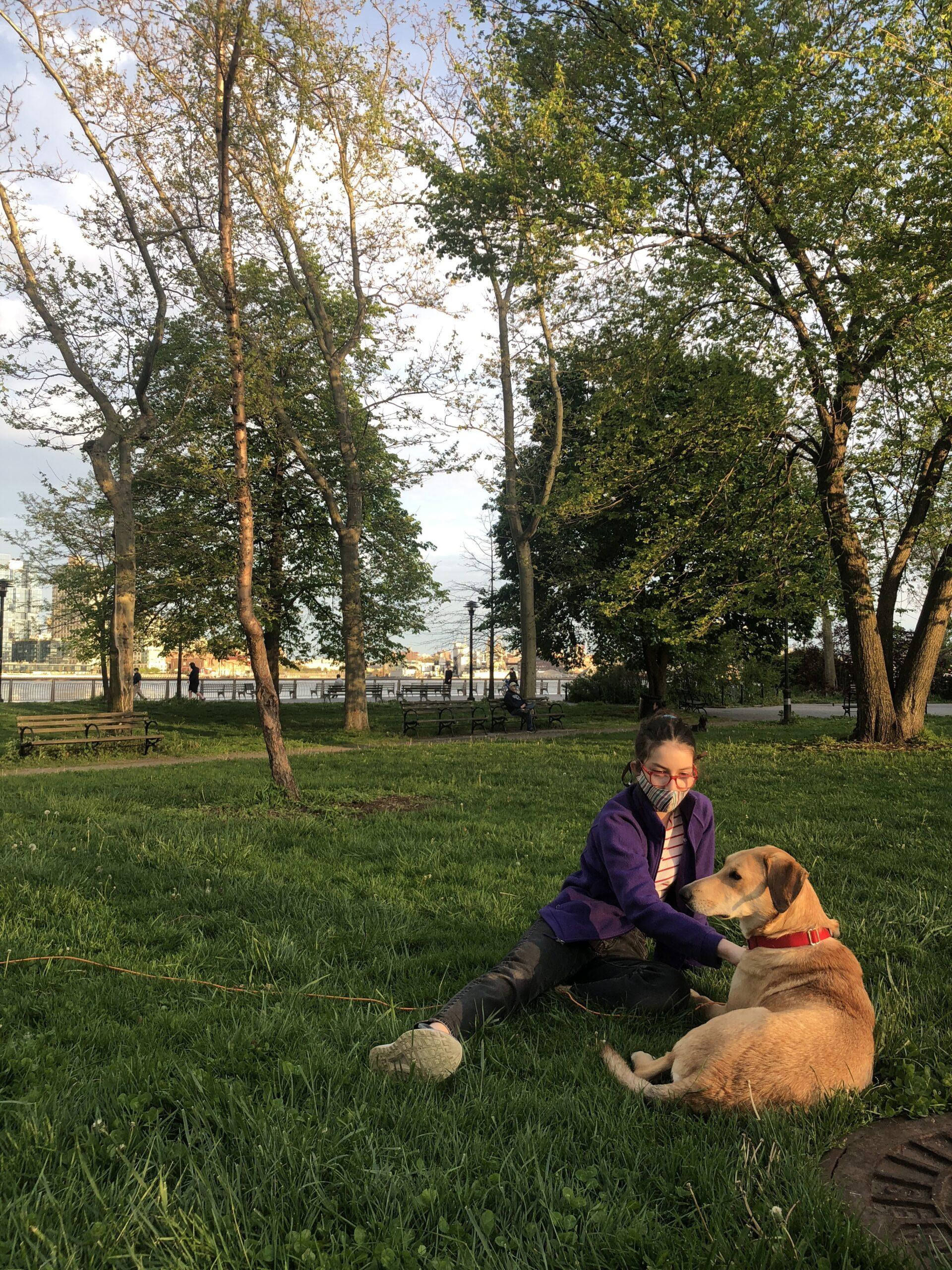 Amalia and her dog
