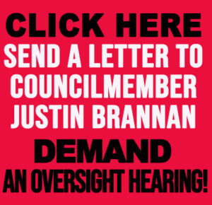 Send end a letter to CCM Justin Brannan